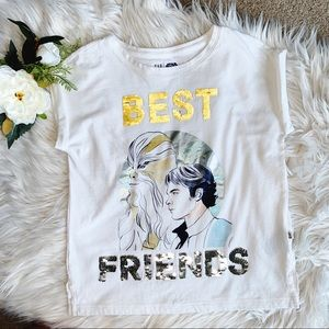 Girl's Star Wars T-shirt with Flip Sequins